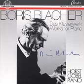 Blacher: Works for Piano / Horst Goebel