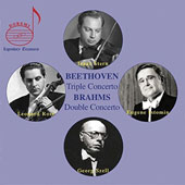 Beethoven: Triple Concerto; Brahms: Double Concerto / Isaac Stern, violin; Leonard Rose, cello; Eugene Istomin, piano; Georg Szell, Cleveland Orchestra
