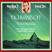 Rachmaninoff: The Three Symphonies / Slatkin, St Louis Sym