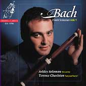 Bach: Flute Sonatas Vol 1 / Solomon, Charlston