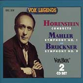 Horenstein Conducts - Mahler: no 1;  Bruckner: no 9