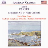 American Classics - Carter: Symphony no 1, etc / Wait, et al