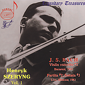Legendary Treasures - Henryk Szeryng Vol 1 - Bach