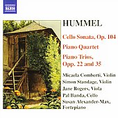 Hummel: Cello Sonata, Piano Quintet, etc / Comberti, et al