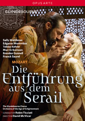 Mozart: Die Entführung aus dem Serail / Sally Matthews, Edgaras Montfidas, Tobias Kehrer, Mari Eriksmoen, Brenden Gunnell, Franck Saurel, Jonas Cradock. Orch. Of the Age of Enlightenment (Glyndebourne, 2015) [DVD]