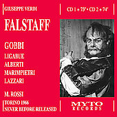 Verdi: Falstaff / Rossi, Gobbi, Ligabue, Alberti, et al