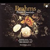 Brahms: Piano Quartets, complete (3) / Derek Han, piano; Isabelle Faust, violin; Bruno Giuranna, viola; Alain Meunier, cello