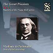 Masters of the Piano Roll - Great Pianists Vol 1 / Pachmann