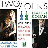 Two Violins - Telemann, Boccherini, Honegger, Ysae / Kogan, Vassilieva