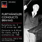 Brahms: Symphony no 1, Concerto for Violin & Cello / Willi Boskovsky, Wilhelm Furtwängler, et al