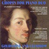 Chopin for Piano Duos / Goldstone-Clemmow Duo