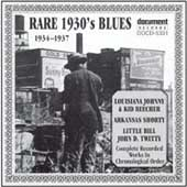 Various Artists: Rare 1930's Blues: 1934-1937