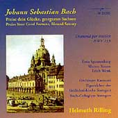 Bach: Praise your Good Fortune, etc / Rilling, Winschermann