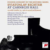 Sviatoslav Richter at Carnegie Hall: Fourth Concert in the Series - October 30, 1960