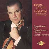 Brahms, Saint-Sa&#235;ns: Violin Concertos / Oliveira, et al
