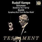 Schumann: Symphony no 1;  Dvorak: Symphony no 9 / Kempe