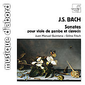 Bach: Sonates pour Viole de Gambe / Quintana, Frisch