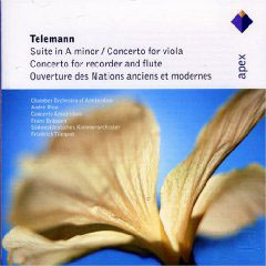 Telemann: Suite In A Major, Concertos In E Minor & G Major, Ouverture Des Nation