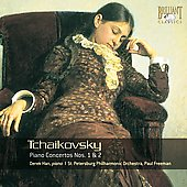 Tchaikovsky: Concerto for Piano no 1 & 2 / Derek Han, Paul Freeman, St. Petersburg Philharmonic Orchestra