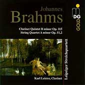 Brahms: Clarinet Quintet, String Quartet no 2 / Leipzig