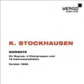 Karlheinz. Stockhausen: Momente, for soprano, four choral groups & 13 instrumentalists / Martina Arroyo, soprano