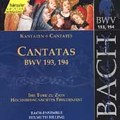 Edition Bachakademie Vol 58 - Cantatas BWV 193-194 / Rilling
