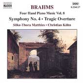 Brahms: Four Hand Piano Music Vol 8 / Matthies, C. Köhn