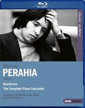 Complete Beethoven Piano Concertos / Murray Perahia, piano; Academy of St. Martin in the Fields; Marriner [Blu-Ray]