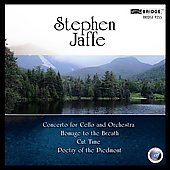 Music of Stephen Jaffe Vol 3 - Cut-Time, Concerto for Violoncello, etc / Llewellyn, Hardy, et al