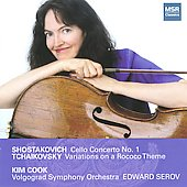 Shostakovich: Cello Concerto;  Tchaikovsky: Variations on a Rocco Theme / Kim Cook