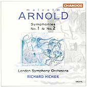 Arnold: Symphonies no 1 & 2 / Hickox, London SO