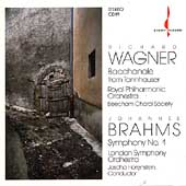 Brahms: Symphony no 1;  Wagner / Horenstein, London SO