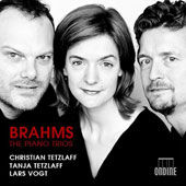 Brahms: The Piano Trios (3), Opp. 8, 87 & 101 / Christian Tetzlaff, violin; Tanja Tetzlaff, cello; Lars Vogt, piano