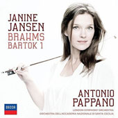 Brahms: Violin Concerto; Bartok: Violin Concerto No. 1 / Janine Jansen, violin; London SO, Antonio Pappano