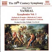 The 18th Century Symphony - Vanhal: Symphonies Vol 1