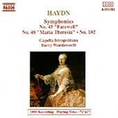 Haydn: Symphonies no 45, 48 and 102 / Capella Istropolitana