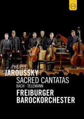 J.S. Bach, Telemann: Sacred Cantatas / Philippe Jaroussky, Freiburger Barockorchester [DVD Video]
