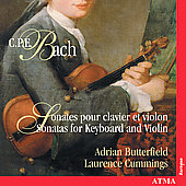 CPE Bach: Sonates pour clavier et violon /Butterfield, et al