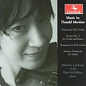 Martino: Violin Sonata no 2, Romanza & Sonata for Solo Violin / Miranda Cuckson, Blair McMillen