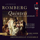 Romberg: Quintets, Vol. 1 - Op. 21/1 A minor, Op. 41/1 E minor, Op. 41/3 F major / Ardinghello Ensemble