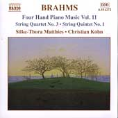 Brahms: Four Hand Piano Music Vol 11 / Matthies, Köhn