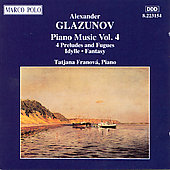Glazunov: Piano Music Vol. 4