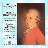 Mozart: String Quartets no 21 & 22 / Stamitz String Quartet