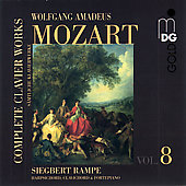 Mozart: Complete Keyboard Works Vol 8 / Siegbert Rampe