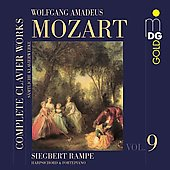 Mozart: Complete Clavier Works Vol 9 / Siegbert Rampe