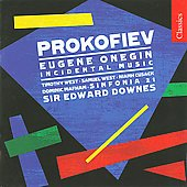 Prokofiev: Eugene Onegin / Downes, West, Sinfonia 21