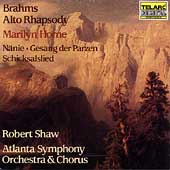 Brahms: Alto Rhapsody, etc / Shaw, Horne, Atlanta SO