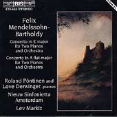 Mendelssohn: Concertos for 2 Pianos / P&#246;ntinen, Derwinger