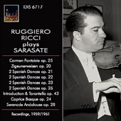 Pablo de Sarasate: Works for violin / Ruggiero Ricci, violin; Brook Smith, piano; Pierino Gamba, London Symphony Orchestra [rec. 1959/61]