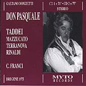 Donizetti: Don Pasquale / Franci, Taddei, Mazzucato, et al